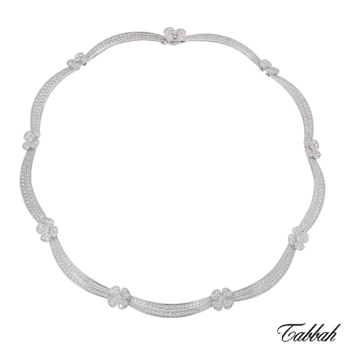 Tabbah White Gold Diamond Jewellery Suite